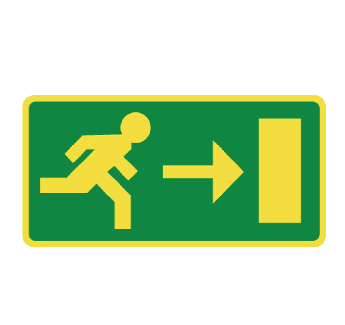 pictogram evacuation Photoluminescent